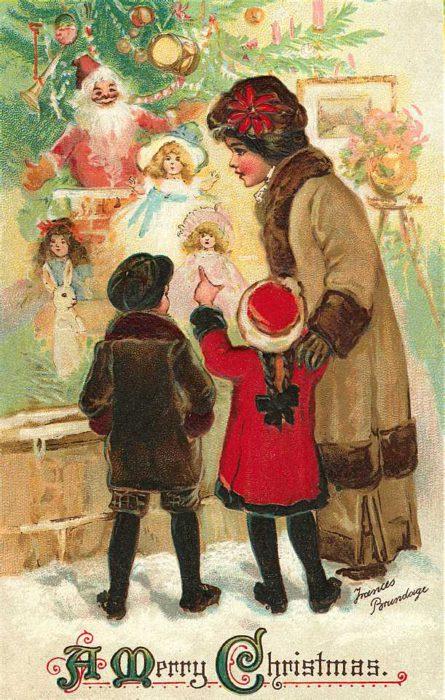Кращі старовинні листівки з Різдвом