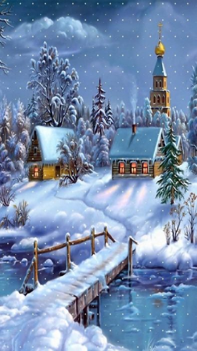 Зима вертикальні картинки на телефон