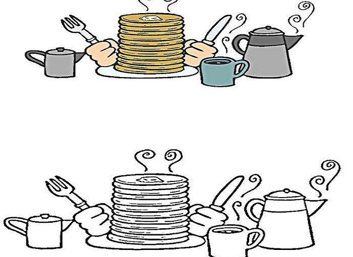 Масляна – розмальовки для дітей – просто роздрукувати картинки для розфарбовування