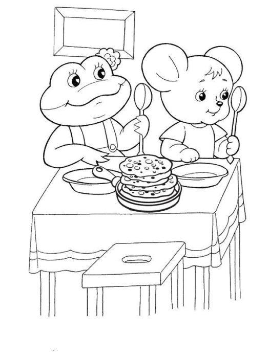 Найкращі картинки-розмальовки для дітей про Масляну