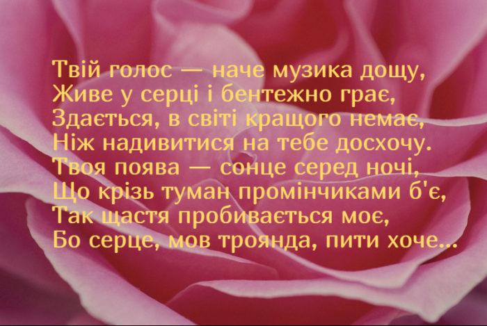 Красиві невеликі привітання до дня Закоханих у віршах на українській мові