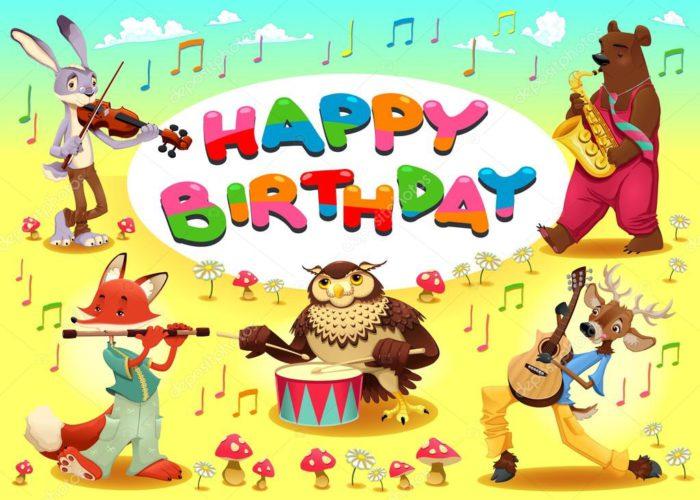 Вітальні листівки з днем народження чоловіку музиканту