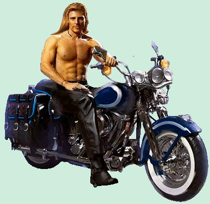 Круті листівки з днем народження чоловікові - з мотоциклом