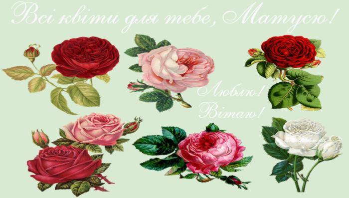 Красиві листівки на день народження для мами - коротке привітання