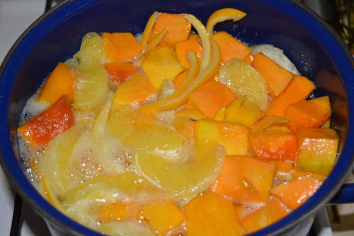 Цукати з гарбуза з апельсинами