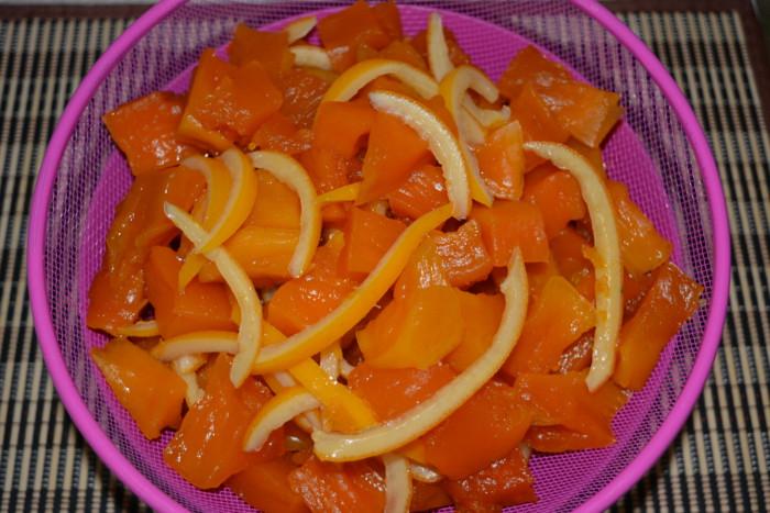 Цукати з гарбуза з апельсиновими кірками