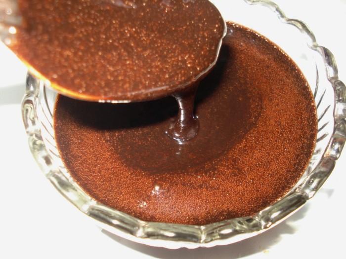 Шоколадна глазур для торта добре застигаюча