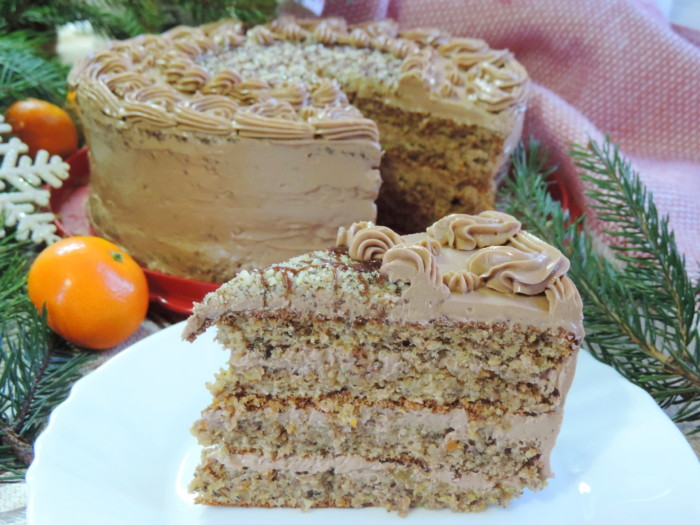 Новорічний мандариновий торт