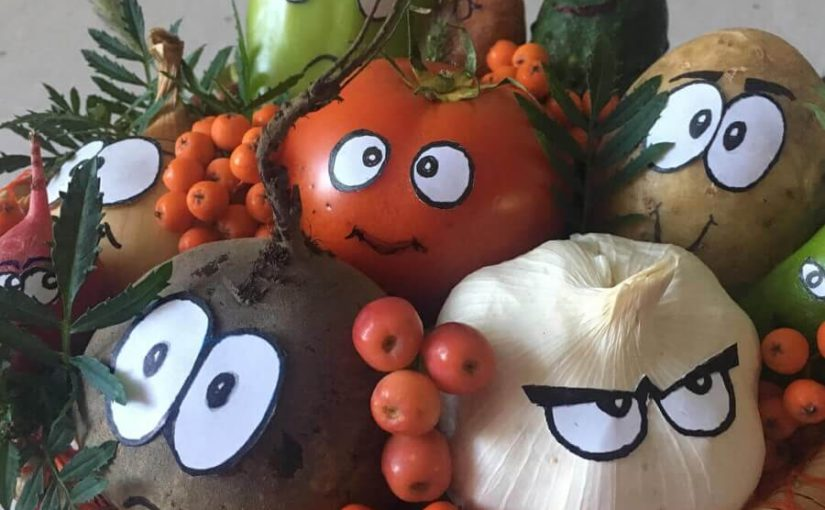 Дитячі саморобки з овочів і фруктів - як зробити осінні саморобки своїми руками
