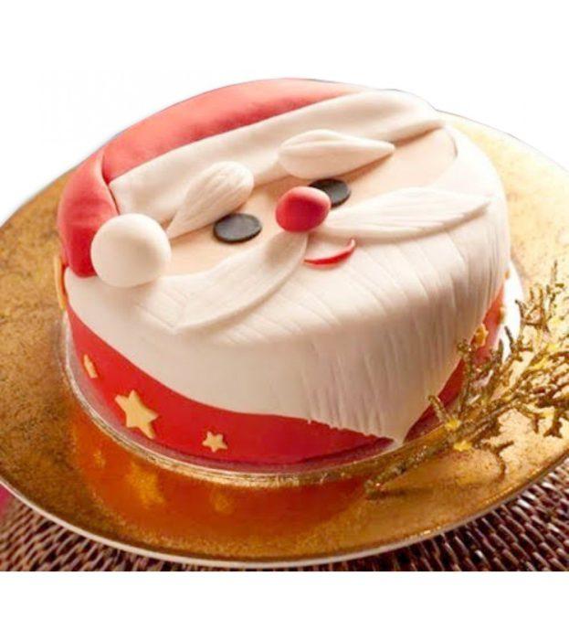 Новорічний торт з Дідом Морозом своїми руками