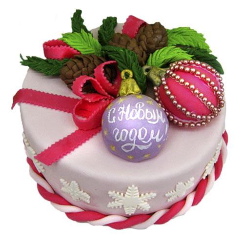 Новорічний торт з кулями і торт Ялинкова куля - смачний та красивий