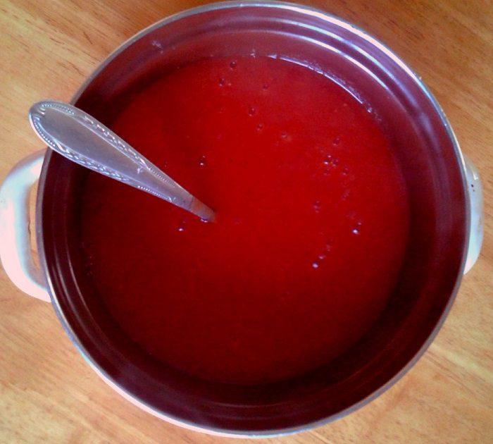 Домашній кетчуп з помідор з крохмалем