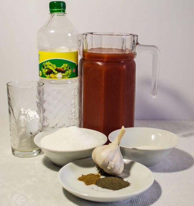 Густий домашній кетчуп з крохмалем з томатного соку