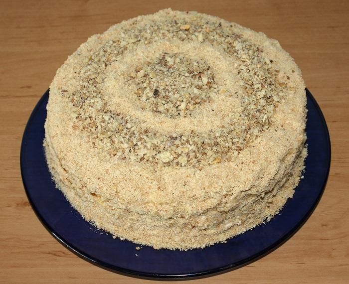Сметанний торт на сковороді
