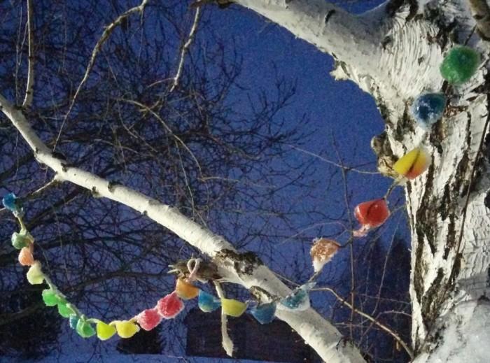 Новорічна гірлянда для вулиці з льоду своїми руками