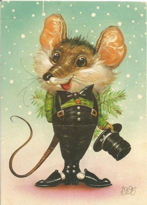 Оригінальні зображення з новорічними мишками, щурами, пацюками