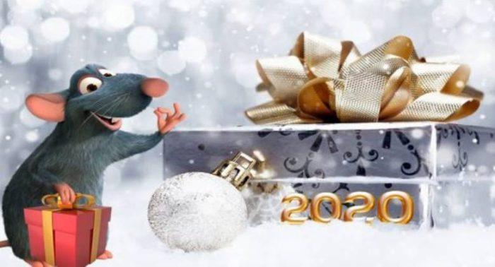 Гарні листівки з новорічними щурами і мишами
