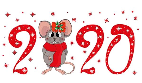 Новорічні листівки з мишками та щурами