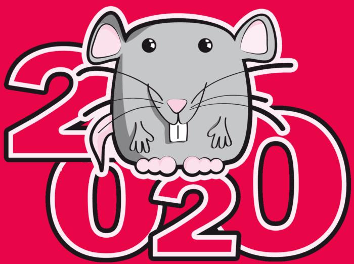Новорічні листівки з пацюками і мишами
