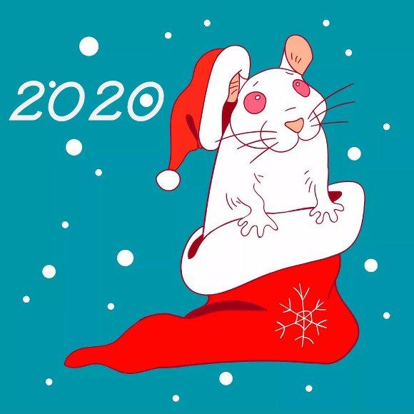 Красиві мальовані листівки з щурами, пацюками, мишами