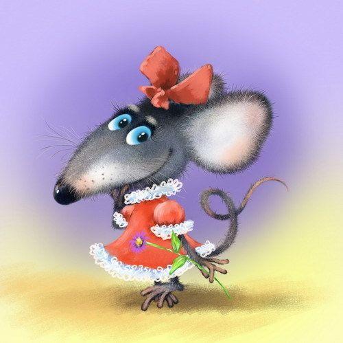 Стильні прикольні заставки з новорічними щурами, пацюками, мишами на смартфон, айфон