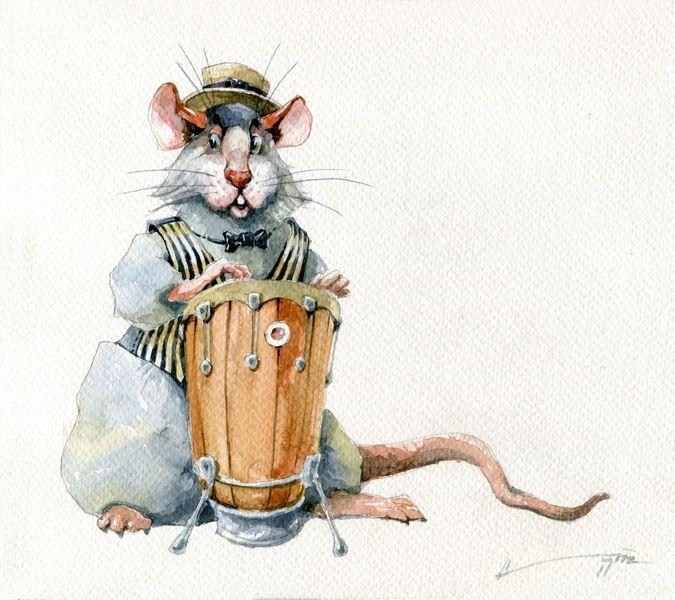 Незвичайні малюнки з новорічними щурами і мишами
