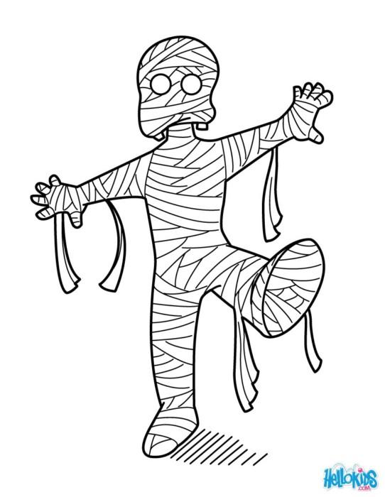 розмальовки мумія