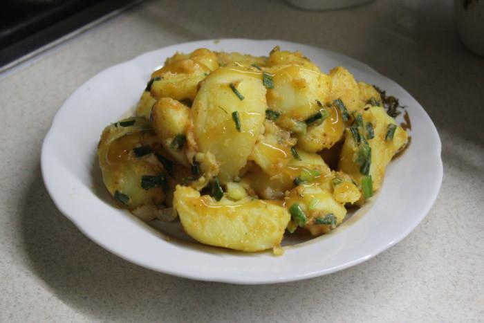 Картопляний папрікаш - смачний гарнір з картоплі