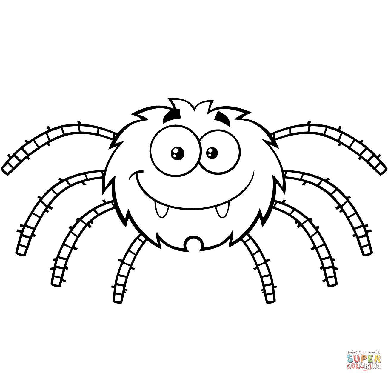 Розмальовки - павуки на Хеллоуїн