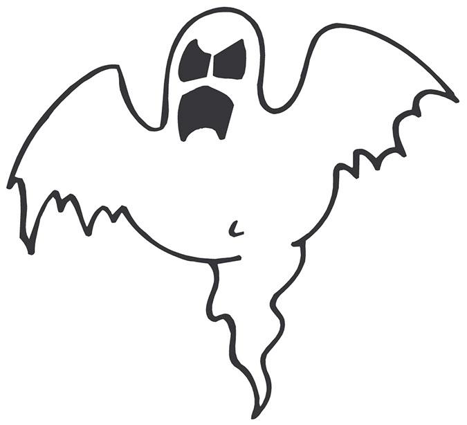 Привиди - розмальовки на Хеллоуїн