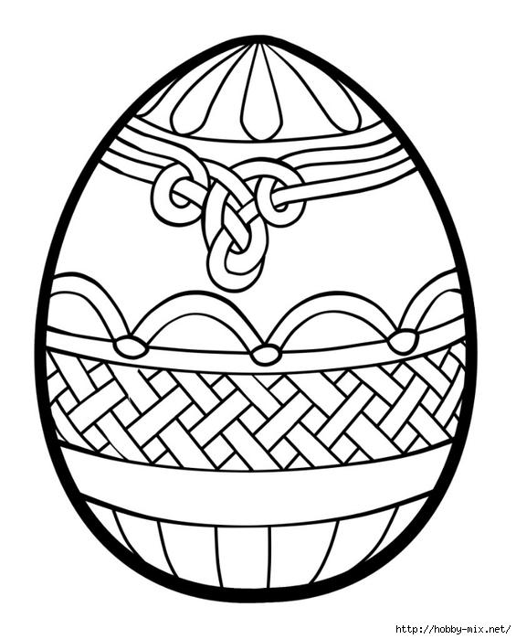Великодні картинки-розмальовки з яйцями для дітей