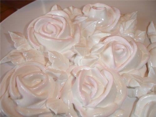 Білковий заварний крем для тортів