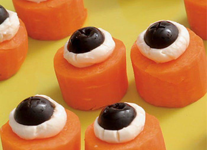 Закуска Очі вампіра – смачна та проста закуска на Хелловін з гарбуза чи моркви