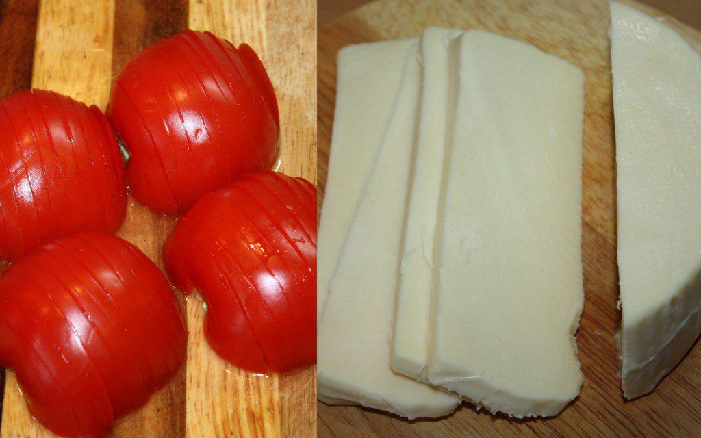Сир і томати для рататуя