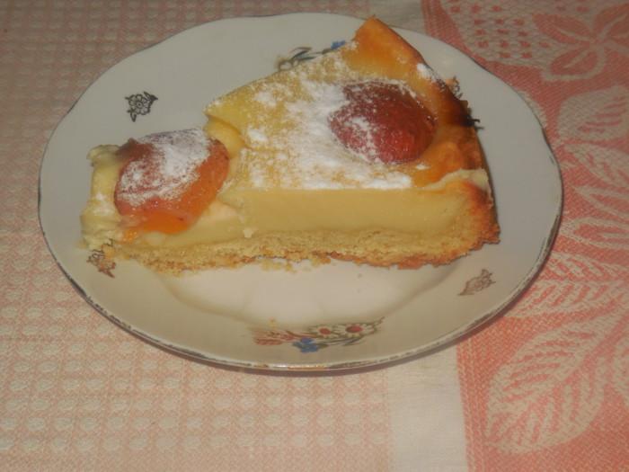 Сирний чізкейк з абрикосами