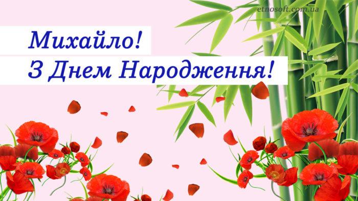 Красива вітальна картинка Михайлу з Днем Народження