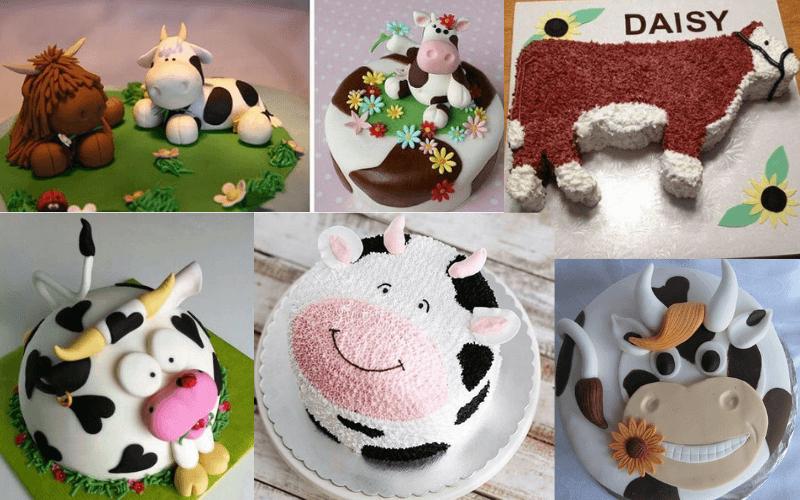 Новорічний торт у вигляді бика чи корови - красивий торт на рік Бика